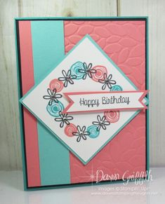 Hi Stampers, Happy Friday friends ! Today we will be making this adorable birthday card using the  Stamparatus #146276 With the SwirlyBird stamp set #141749 . Here are the measurements: Bermuda Bay card stock #131197 cut at 5 1/2″ x 8 1/2″scored at 4 1/4″ Basic Black card stock # 121045 cut at 4 …