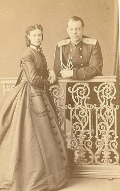 Kronprinz Alexander von Russland mit Prinzessin Dagmar von Dänemark, future Czar and Czarina of Russia | Flickr - Photo Sharing!