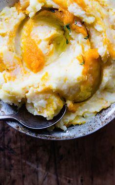 Pumpkin Swirled Mashed Potatoes