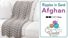 Crochet Ripples in the Sand Afghan + Tutorial