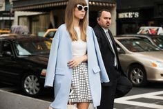 The NYFW Street-Style Looks That Truly Stunned #refinery29  http://www.refinery29.com/2014/09/73987/new-york-fashion-week-2014-street-style-photos#slide4  Sixties mod, 2014 style.
