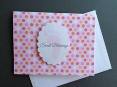 Sweet Blessings Baby Girl Pink White & Orange by sincerelyyours123, $16.50