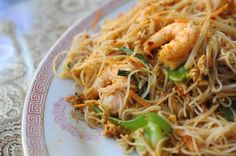 Singapore Rice Noodles entree at Jenny's Kuali, a Malaysian restaurant at 102 East 4th Street in South Bethlehem.