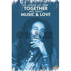 Poster: Bob Marley - music & love zum Verkauf online. Bestellen Sie Ihre Poster, Ihre 3D Film-Poster oder ähnliches interessantes Maxi Poster