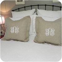 Oatmeal Boudoir Sham | FREE monograms | FREE shipping | The Preppy Pair