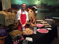 Event catered by table 301 catering at the upcountry history Museum Chef Work, History Museum, Paella, Catering, Menu, Ethnic Recipes, Table, Food, Menu Board Design