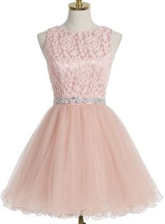 Homecoming Dress With Crystal Lace,A-line Scoop Homecoming Gown,Short Champagne Prom Dress,YY128