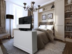 Azura White Finish - Foot-of-the Bed Lifts. This unit is a 360 swivel so you can…