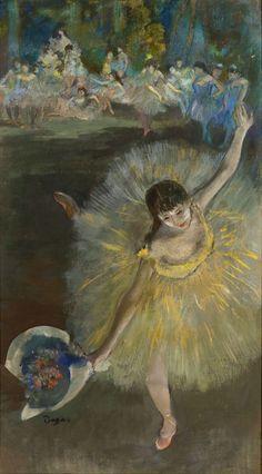 "Edgar Degas (1834-1917) - ""Fin d'arabesque"" (End of an Arabesque), 1877 - Oil and pastel on canvas"