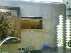 TV Milan Navigli, Hidden Kitchen, Custom Cabinets, Loft, Flooring, Mirror, Tv, Design, Home Decor