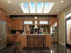Work your culinary magic under the skies. VELUX roof windows provide the perfect finishing touch to modern and traditional kitchens. Via @VELUXusa