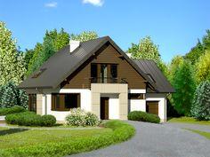 DOM.PL™ - Projekt domu Dom przy Cyprysowej 29 CE - DOM EB3-51 - gotowy projekt domu