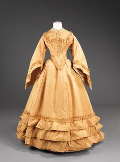 Wedding dress, circa 1851