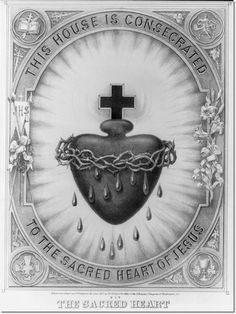 This house is consecrated to the Sacred Heart of Jesus. Sacred Heart of Jesus, we trust in you. Catholic Art, Roman Catholic, Religious Art, Catholic Crafts, Religious Pictures, Catholic Quotes, Catholic Medals, Altar, Jesus E Maria