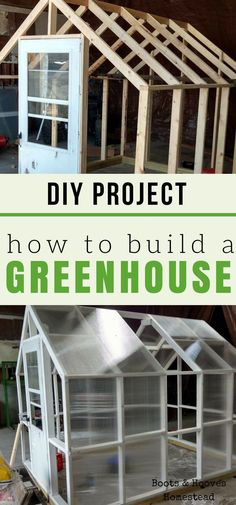 How to build a greenhouse. DIY project for your homestead or small farm. #smallgardens