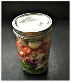 Make It & Take It: Baby Kale Cabbage & Pickled Veggie Mason Jar Salad