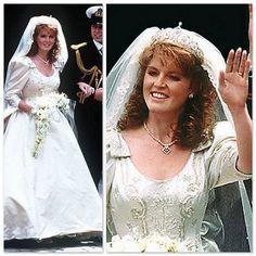 Sarah Ferguson, former Duchess of York wearing her tiara