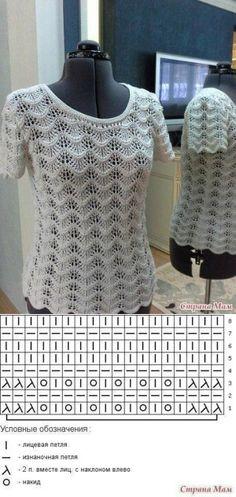 Интересная кофточка - Вязание (схемы на все модели) | вязание | Постила