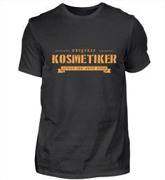 Der echte Kosmetiker – Keep up with the times. Barista, Basic Shirts, T Shirts, Pilot T Shirt, Herren T Shirt, Mens Tops, Steinmetz, Professor, Zimmermann