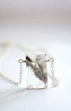 Brookite and sterling silver necklace brookite by KahiliCreations, $67.00