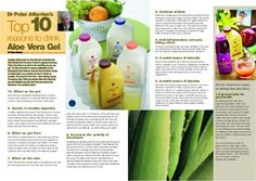 10 Top reasons to drink Aloe Vera Gel