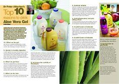 10 Top reasons to drink Aloe Vera Gel
