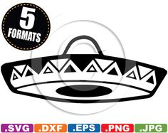 Mexican Sombrero Clip Art Image - svg & dxf cutting files for Cricut and Silhouette Machines PLUS eps/vector, jpg, png
