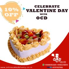 Valentine's Day cake online delivery at your doorstep OCD Fresh Cake, Valentines Day Cakes, Cake Delivery, Cake Online, Gift Cake, 4 Hours, Taste Buds, The Fresh, Kiwi
