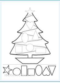 vormen kerstboom