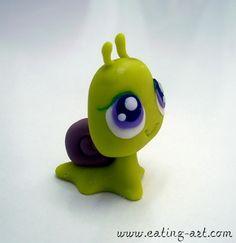 Polymer clay snail