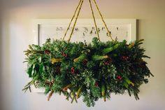 Hanging Wreath Chandelier Tutorial - Waiting on Martha