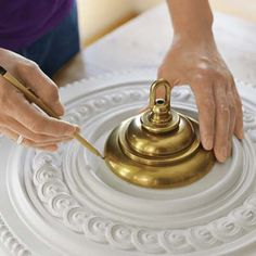 Photo: Wendell T. Webber | thisoldhouse.com | from How to Install a Ceiling Medallion