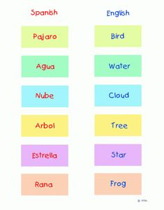Worksheet Spanish-English Word Match2 Games | Ziggity Zoom
