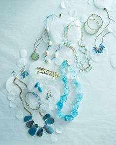 Get a shot of something blue with a sparkling piece of jewelry that's wedding-worthy