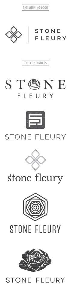 Owned by a a couple of strong woman, Stone Fleury came to us looking for a logo that can best represent their company in the stone industry. We were inspired by the idea of hard and soft, delicate and sturdy. Want to see more? Check out our work at www.artsygeek.com/portfolio/