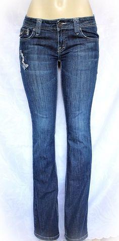 "EUC Taverniti Jeans 8410-99-132-2492 Size 29 Slim Boot Cut Blue Low Womens 33.5"" #Taverniti #BootCut"