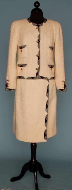 Chanel White Suit, 1970-1980, Augusta Auctions, November 14, 2012 NEW YORK CITY, Lot 244