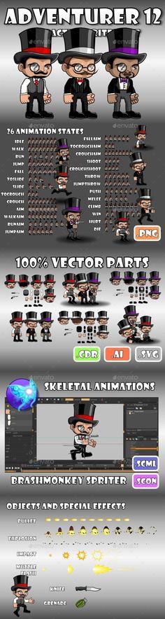 Adventurer Character 12 Download here: https://graphicriver.net/item/adventurer-character-12/15184374?ref=KlitVogli