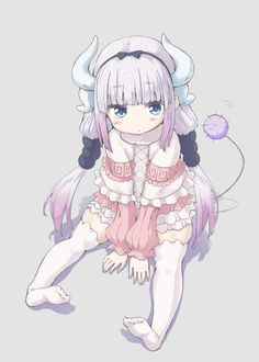 Kanna Kamui (Miss Kobayashi's Dragon Maid) Loli Kawaii, Anime Kawaii, Anime Chibi, Manga Anime, Cute Anime Pics, I Love Anime, Kanna Kamui, Desu Desu, Kobayashi San Chi No Maid Dragon