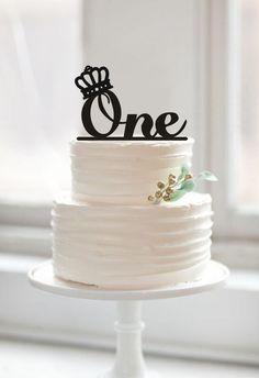 Один торт топпер, первый день рождения торт топпер с короной, монограмма ОДИН торт топпер на день рождения, душа ребенка торт топпер