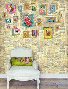 ♥ DIY flower wall