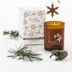 Christmas orange, nutmeg & cinnamon soy wax candle. Shop now at www.hardtofind.com.au