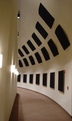 Image: Acoustics — Special panels absorb unwanted echoes.