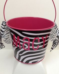 Cute Easter Buckets now available in our Etsy Shop! Themes include Zebra Print, Jungle Safari, Outer Space, and Pirates! We have limited quantities, so order early!! $10