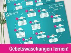 Wudhu Ghusl Gebetswaschungen lernen Zettel von Islamischershop Bestellen auf www.islamischershop.de