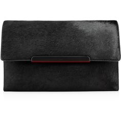 Christian Louboutin Rougissime Clutch ($1,495) ❤ liked on Polyvore featuring bags, handbags, clutches, bolsos, purses, bolsas, black, leather handbag purse, evening purse and special occasion clutches