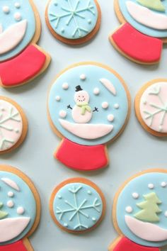 snow globe christmas cookies