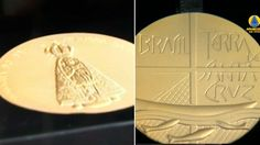 Nesta quarta-feira, 12, foi lançada uma medalha comemorativa pelos 300 anos da aparição da imagem de Nossa Senhora Aparecida