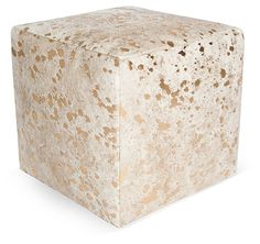 One Kings Lane - Contemporary Luxe - Naomi Cube, White/Gold