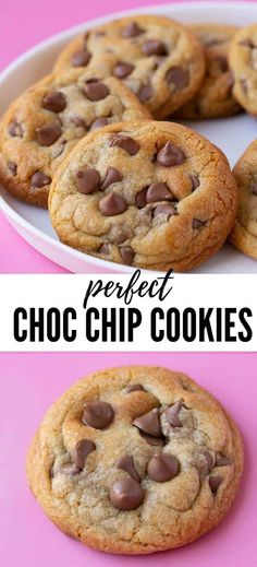 Classic Soft And Chewy Chocolate Chip Cookies - Sweetest Menu - The BEST Chocolate Chip Cookies ever! Made with melted butter they are soft and chewy and loaded wi - Chocolate Chip Pudding Cookies, Homemade Chocolate Chip Cookies, Perfect Chocolate Chip Cookies, Chocolate Chip Recipes, Chocolate Chip Oatmeal, Cookies Soft, Chocolat Chip Cookies Recipe, Chocolate Chip Cookie Recipe With Melted Butter, Recipe For Cookies